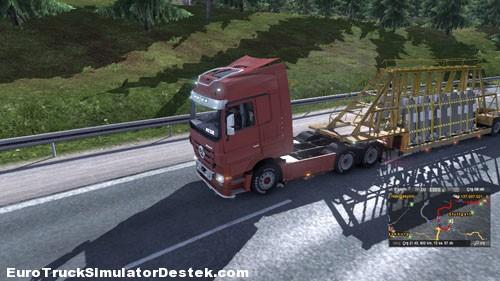 Yük Taşımacılığının Yeni Soluğu Euro Truck Simulator 2 'den Bir Görüntü
