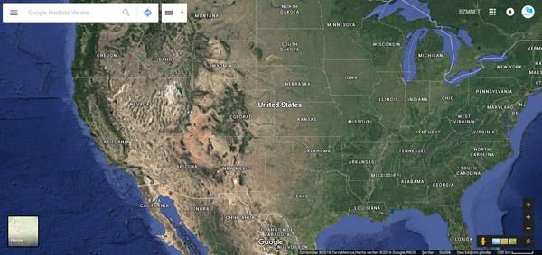 Dünya Haritası (Amerika)