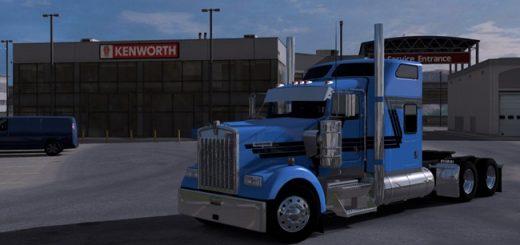 kenworth-w900-mavi-siyah-cizgili-skin-yama